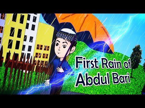 Abdul Bari Muslims Islamic Cartoon for children - Rainy Season & my new umbrella - Urdu