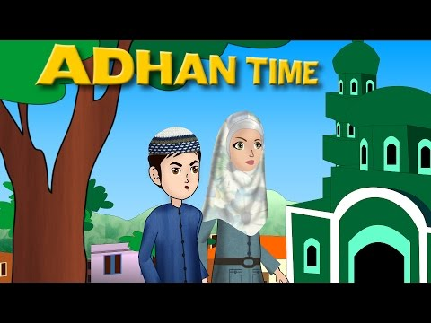 Abdul Bari Muslims Islamic Cartoon for children - Abdul Bari when the Adhan begin - Urdu