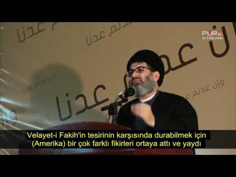 Seyyid Haşim Haydari - Amerika Velayet-i Fakih\'ten Korkuyor - Arabic sub Turkish