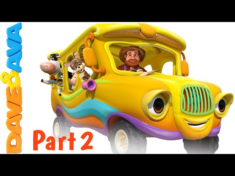 Wheels on the Bus – Animal Sounds Song | Nursery Rhymes and Baby Songs - English