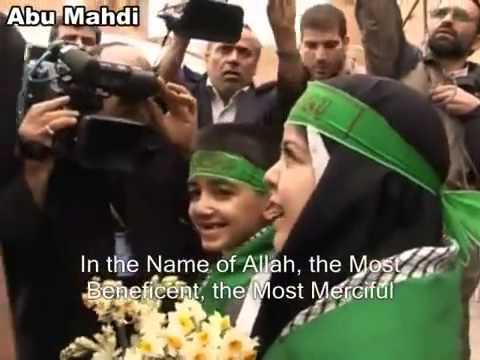 [Clip] Children receive sayyed Ali khamenei with flowers - Farsi Sub English