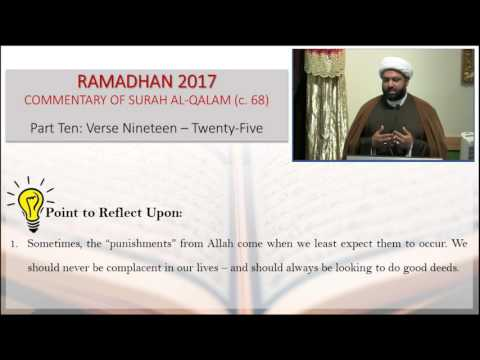 Commentary of Surah Al-Qalam: Part 10 - English