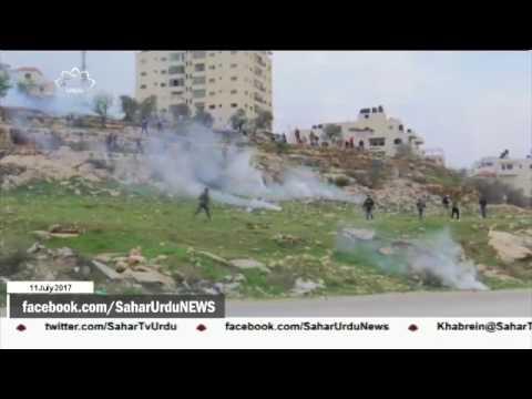 [11Jul2017] فلسطینیوں کے ساتھ جھڑپ میں دو صہیونی فوجی زخمی- Urdu