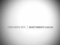 Consumerism - What Parents Can Do - English