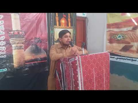 [Hussain Day at Masomin Public school Badah] Speech by Sir Yaqoob - Sindhi
