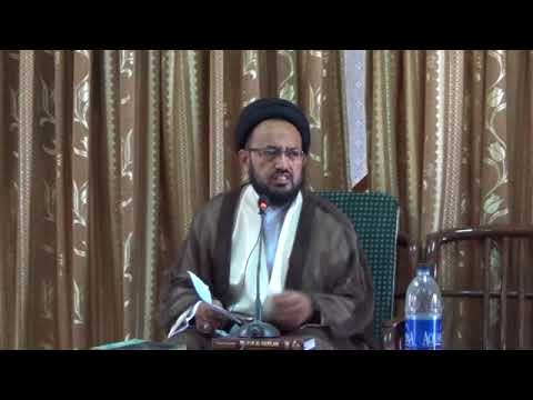 [Lecture] Topic: Imam Sajjad a.s Tableegh  | H.I Sadiq Raza Taqvi | Muharram 1439/2017 - Urdu