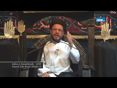05 Majlis Ashra-E-Zainabiyyah Safar 1439 Hijari 2017 Topic: Insight بصیرت By Allama Syed Mohammad Zaki Baqri - Urdu