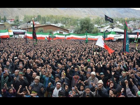 Ashura procession in Kargil Ladakh 2016 - Organised by Imam Khomeini Memorial Trust Kargil - English