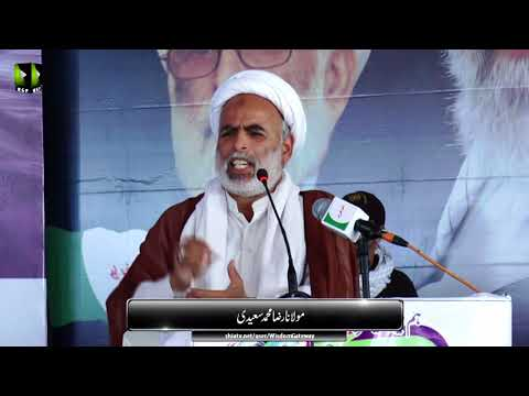 [Wilayat-e-Haq Convention 2018] یوم یعسوب الدین | Speech: Moulana Raza Saeedi | Asgharia Org. Pak - Sindhi