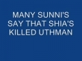 WHO KILLED UTHMAN BIN AFFAN