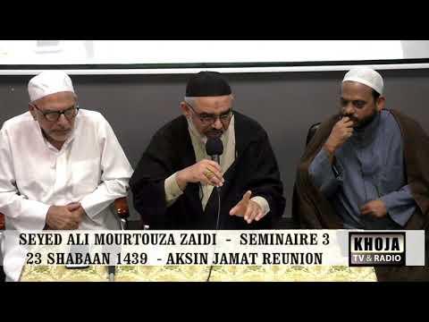 Seminar 3rd 23rd Shaban 1439 Hijari 2018 By Allama Syed Ali Murtaza Zaidi - Urdu