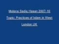 Sadiq Hasan Practices of Islam in West 2007 10 - URDU