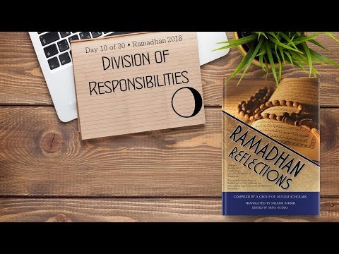 Division of Responsbilities - Ramadhan 2018 - Day 10 - English