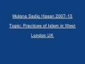 Sadiq Hasan Practices of Islam in West 2007 13 - Urdu
