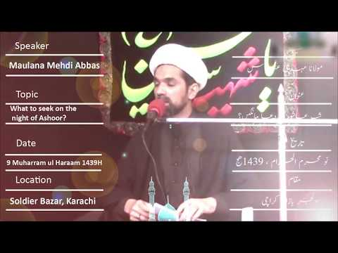 CLIP | What To Seek On The Night Of Ashoor | Maulana Mehdi Abbas | Urdu sub English