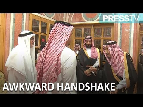 [24 October 2018] Khashoggi\'s son shakes hands with Saudi royals - English