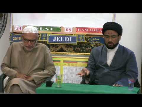 1st Dars Shab of 08 Ramazan 1439 Hijari 24 May 2018 Speaker: Moulana Syed Zaigham Rizvi - Urdu