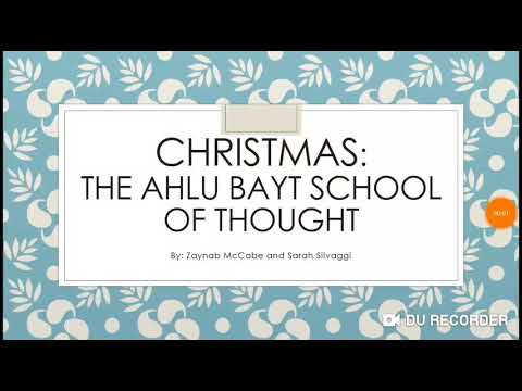 Christmas: ahlu bayt school of thought in English  - English
