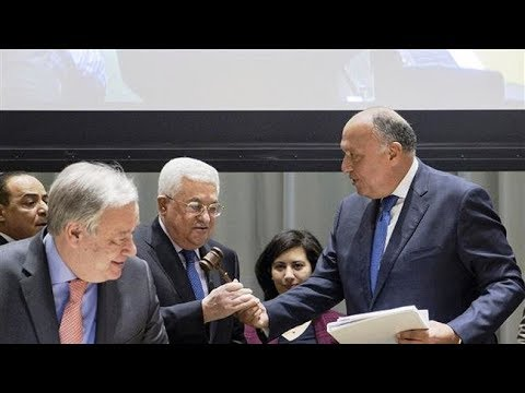 [17 January 2019] Egypt hands UN Palestine chairmanship of G77 and China for 2019 - English