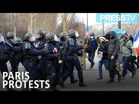 [10 Feb 2019] French protesters clash with police; dozens arrested - English