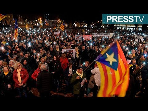 [13 Feb 2019] Catalans hold protest as pro-secession leaders go on trial - English