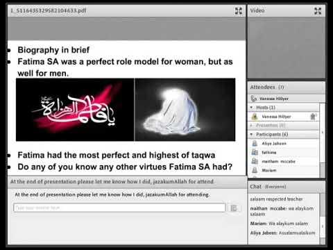 Lady Fatima SA QAE live webinar - English