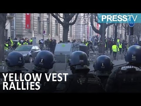 [17 Feb 2019] French police, protesters clash in several cities - English