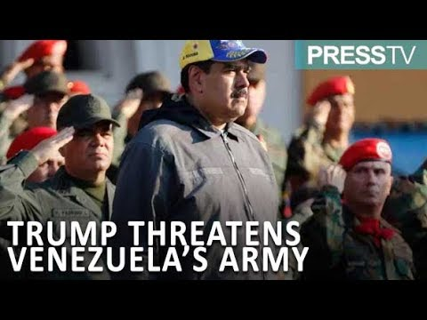 [19 Feb 2019] Trump tells Venezuela military to back Guaido or \'lose everything\' - English