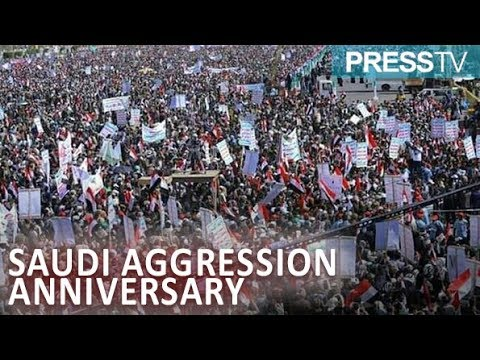 [26 March 2019] Yemenis stage huge gathering in Sana'a, other cities marking 4 years after Saudi-led war - English
