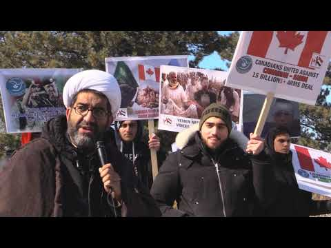 Ottawa Mark 4th year of Saudi war on Yemen: Sheikh Shafiq Huda Speech at Saudi Embassy Ottawa -English