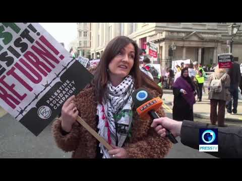 [31 March 2019] London demonstrators march in solidarity with Gaza 'Great Return March - English