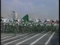 Rahber e Muazzim watching Basij drill - All Languages