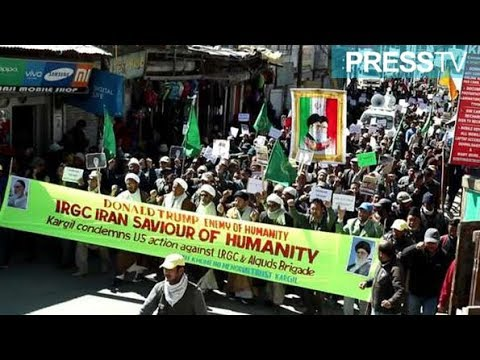 [11 April 2019] India: Protesters burn Trump effigy at rally against IRGC \'terror\' tag - English