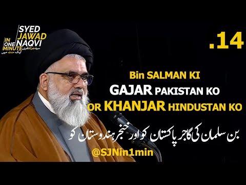 [Clip]  SJNin1Min 14 - Bin Salman Ki GAJAR Pakistan Ko KHANJAR Hindustan Ko - Urdu