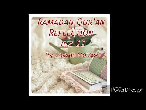 Ramadan Quran reflection juz 11, 9 qualities of a believer - English