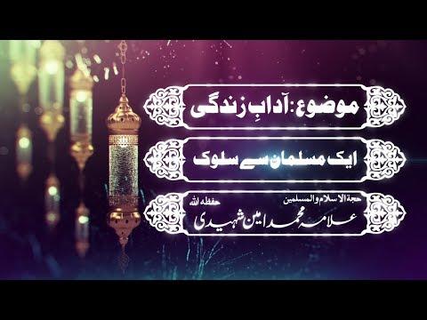ایک مسلمان سے سلوک|علامہ محمد امین شہیدی حفظہ اللہ - Urdu