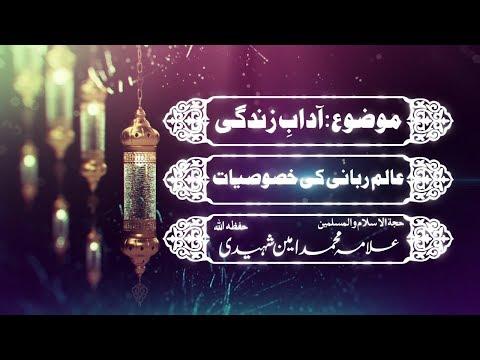Alim e Rabani Ke Khasusiyat  | عالم ربانی کی خصوصیات | H.I Allama Amin Shaheedi - Urdu