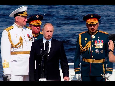 [28 July 2019] St. P\'burg: Putin leads Russian Navy Day parade - English