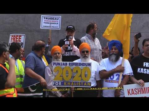 Imam Zafar Bangash Addressing to Kashmir Solidarity Rally Toronto 18Aug2019 - English