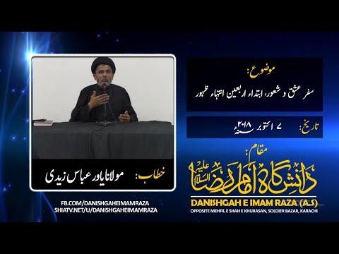 Safar e Ishq o Shaoor Ibtida Arbaeen Intiha Zahoor - Molana Yawar Zaidi - Urdu