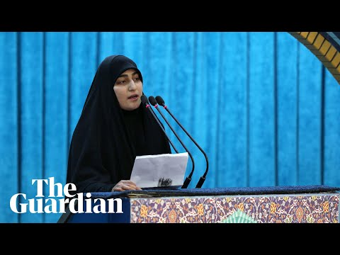 Qassem Suleimani's daughter warns US of 'dark days' ahead Speech 2020 Farsi Sub English