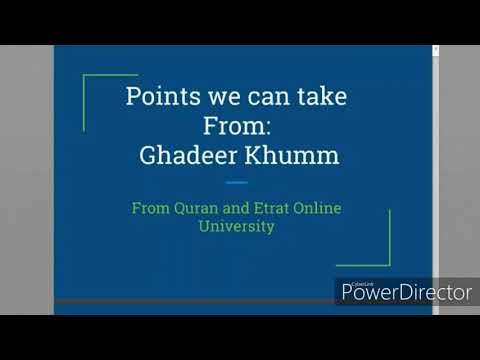 Points we can Take From Ghadeer Khumm-english