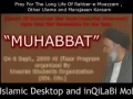 -- MUHABBAT -- Agha Bahauddini - 6 Sept-09 - Persian with Urdu Translation