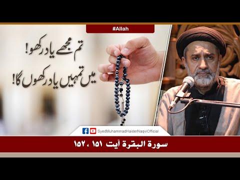 Tum Mujhe Yaad Rakho! Main Tumhain Yaad Rakhun Ga! || Ayaat-un-Bayyinaat || Hafiz Syed Haider Naqvi - Urdu