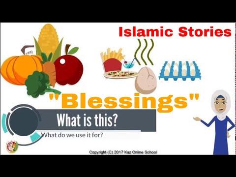 Kids Islamic Stories   Blessings   Kids Islamic Cartoon   Kaz School   English