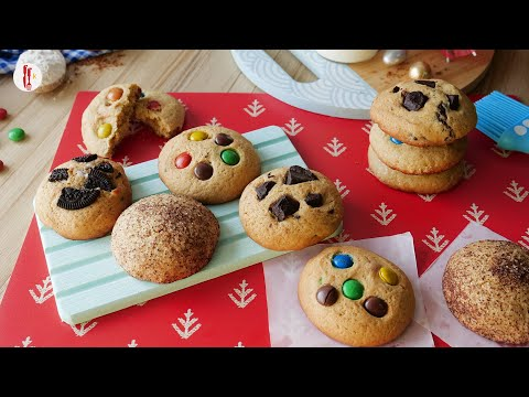 [Quick Recipes] Cookies 4-Ways with one Dough Without Oven - English Urdu