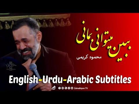 ببین میتوانی بمانی بمان - محمود کریمی   Farsi sub English Urdu Arabic