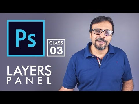 Layers Panel - Adobe Photoshop for Beginners - Class 3 - Urdu / Hindi