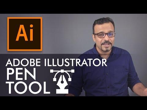 Adobe Illustrator Training - Class 3 - Pen Tool Urdu / Hindi