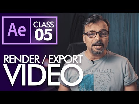 How to Render / Export Video in After Effects Class 5 - Urdu / Hindi